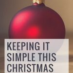 Keeping it simple this Christmas