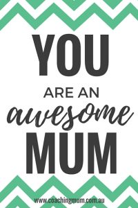 You Are An Awesome Mum Green
