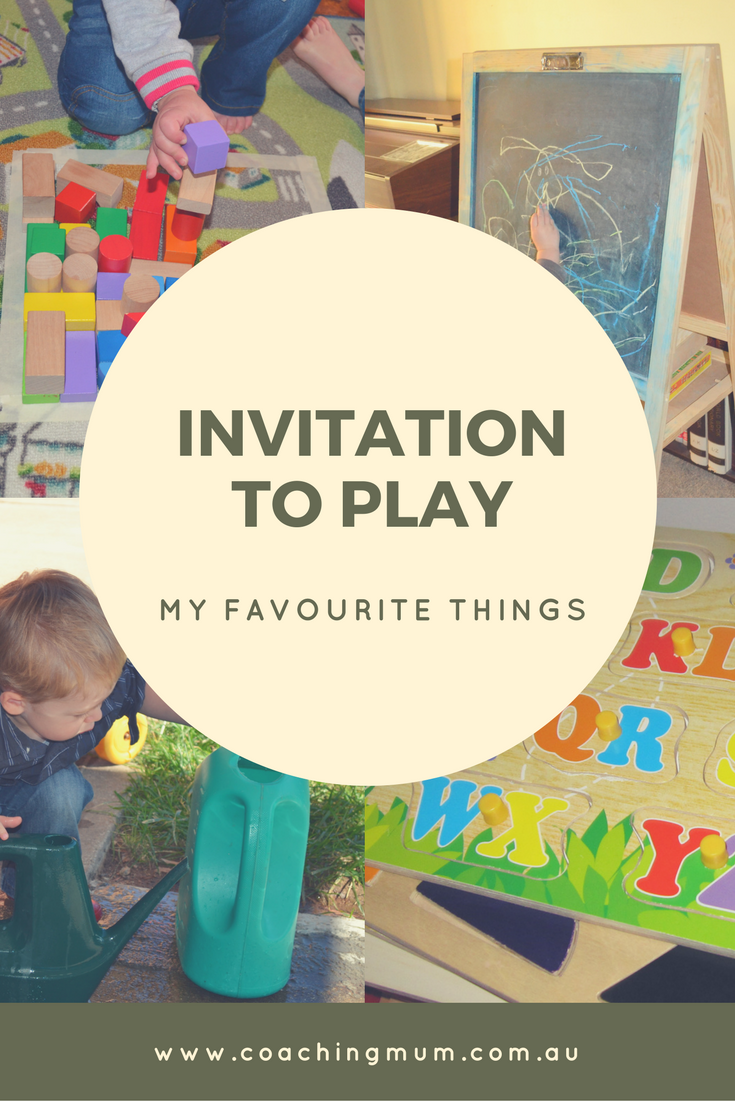 my favourite things create an invitation to play coaching mum